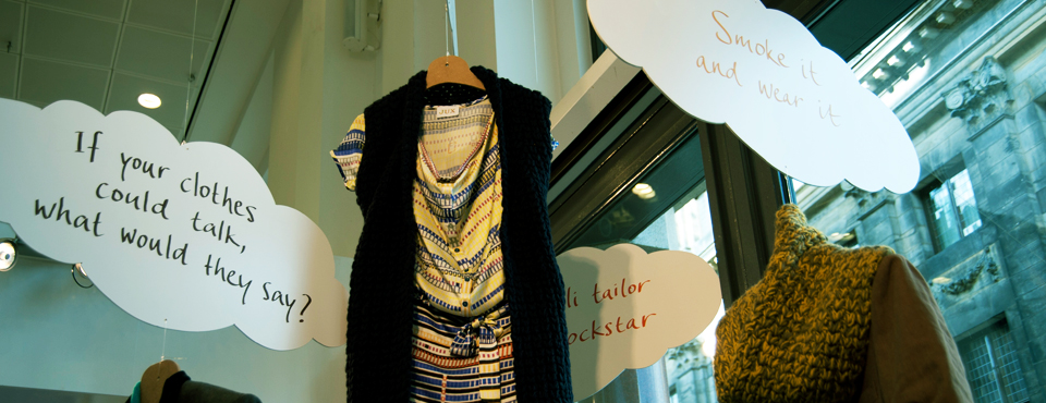 Expositie Sustainable Fashion @ Rabobank Amsterdam